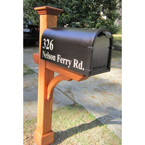 Gallery For > Wood Mailbox Post Designs